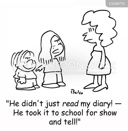 secret diary cartoon