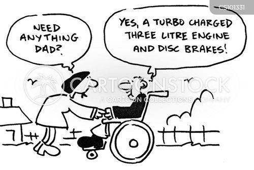 wheelchair user cartoon