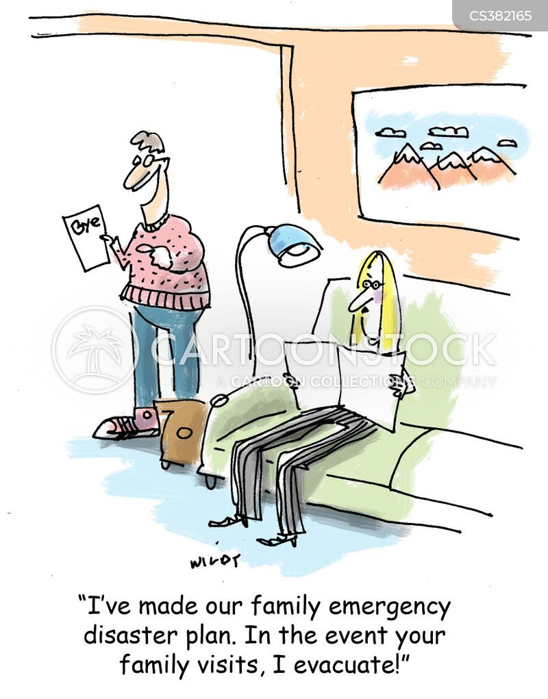 emergency plan cartoon