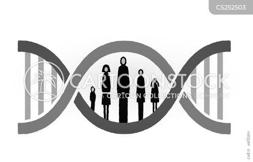 chromosomes cartoon