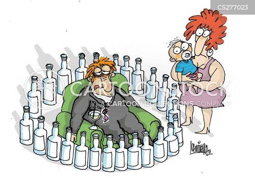 evils of drink cartoon