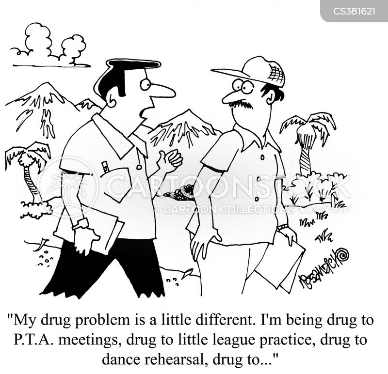 drug problems cartoon
