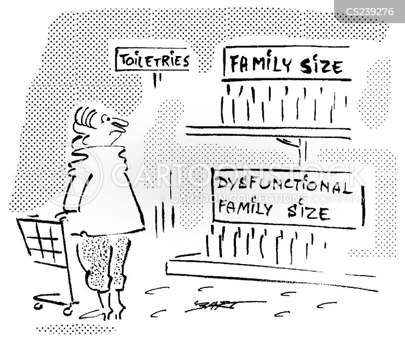 dysfunctional family size products cartoons and comics funny