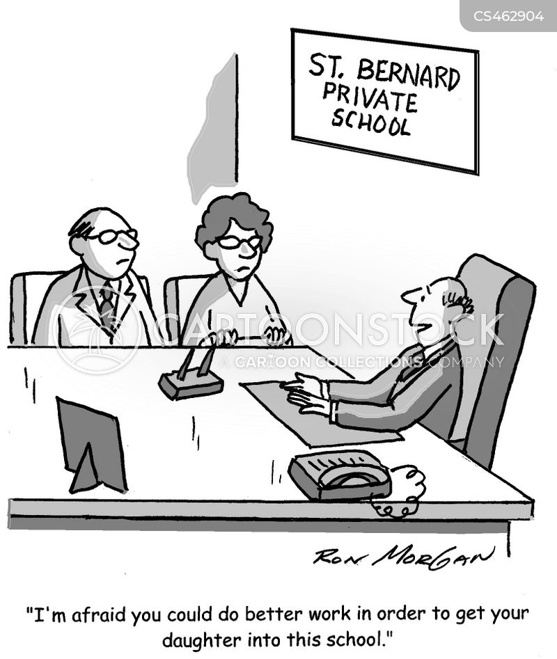 admissions officer cartoon