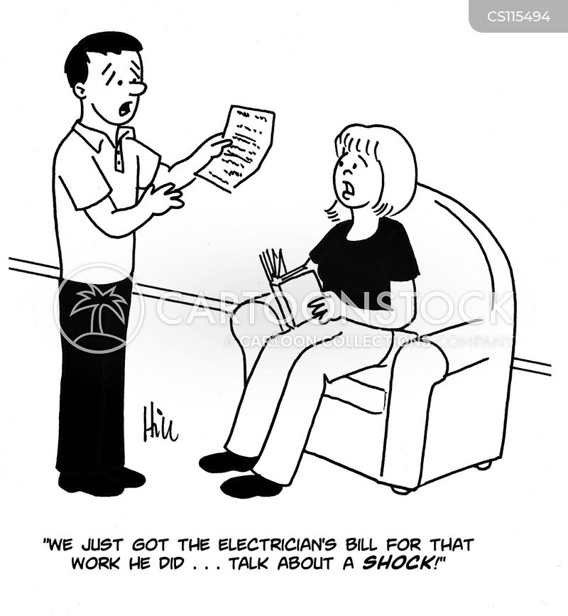 electric bills cartoon