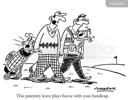 paternity leave cartoon