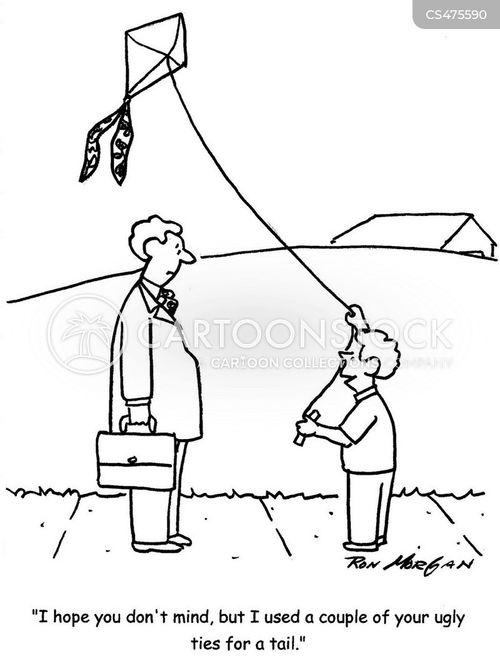 kite flier cartoon