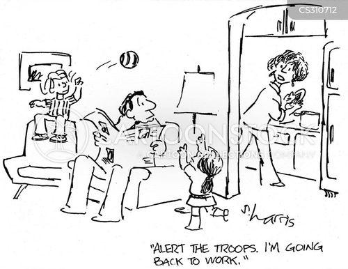 career mum cartoon