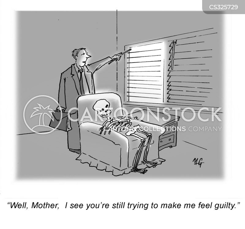 guilt tripped cartoon
