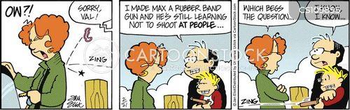 rubber bands cartoon