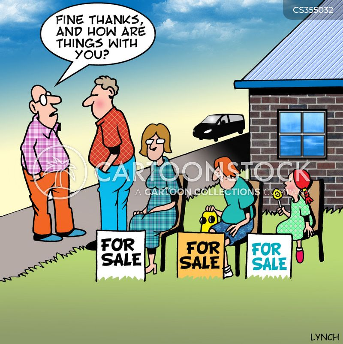 garden sale cartoon