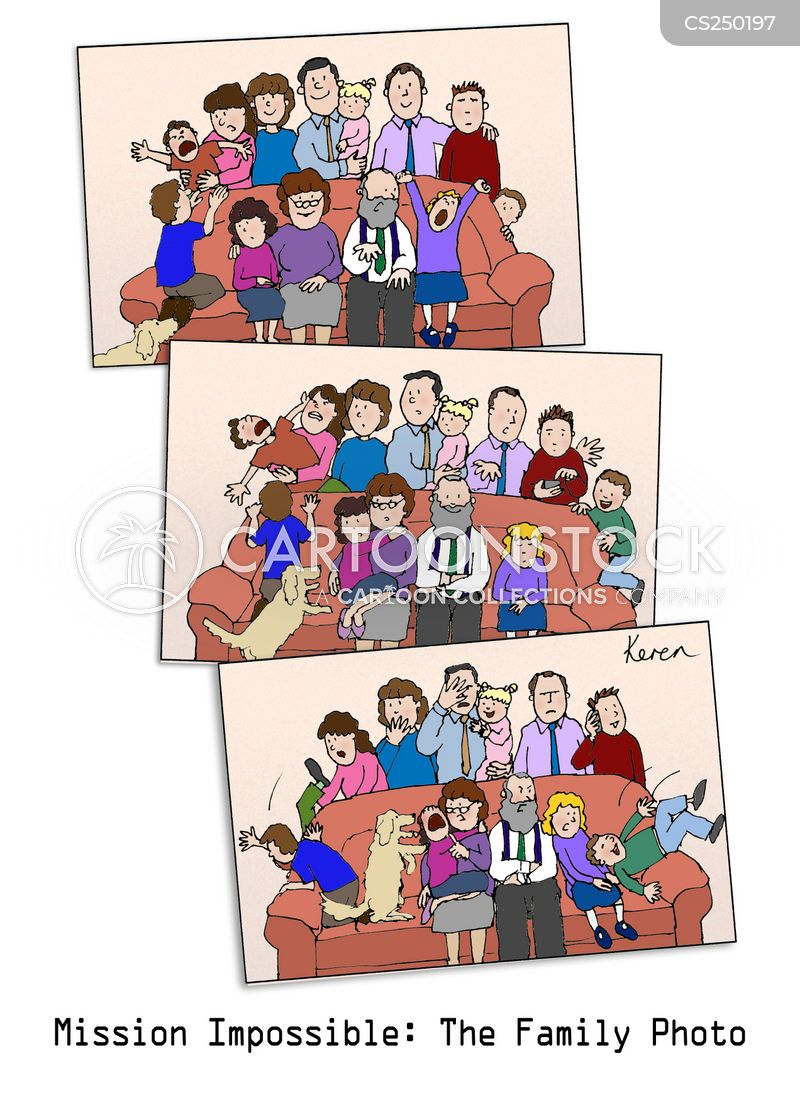 family photograph cartoon