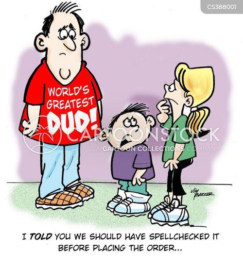 spell checkers cartoon