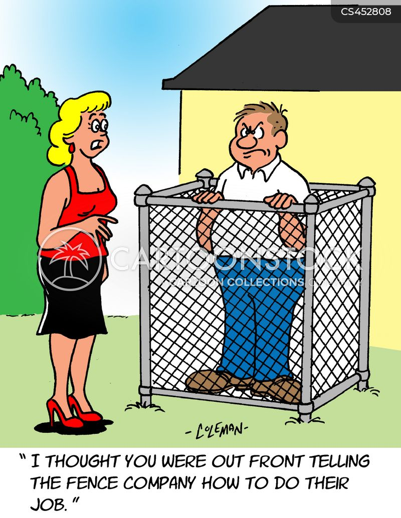 Building fences cartoons and comics funny pictures from
