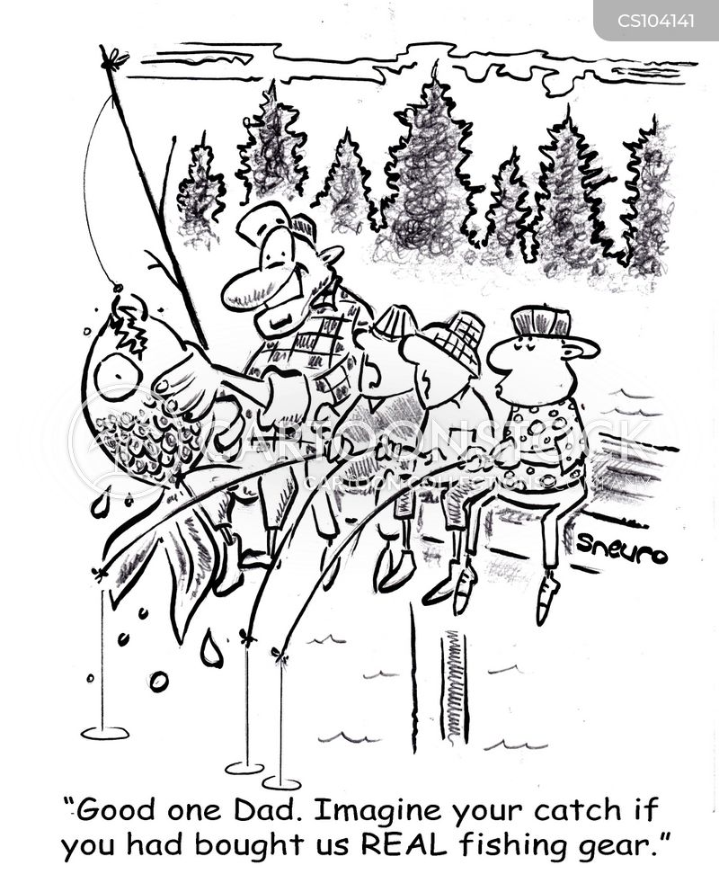 fishing gear cartoon