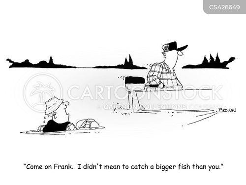 rod and reel cartoon