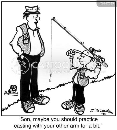 fishing holidays cartoon