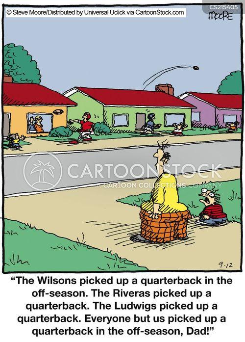 quarterbacks cartoon