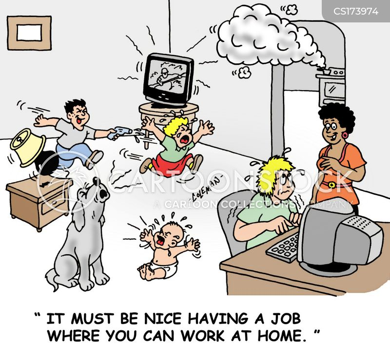 working from home cartoons and comics funny pictures from cartoonstock. Black Bedroom Furniture Sets. Home Design Ideas
