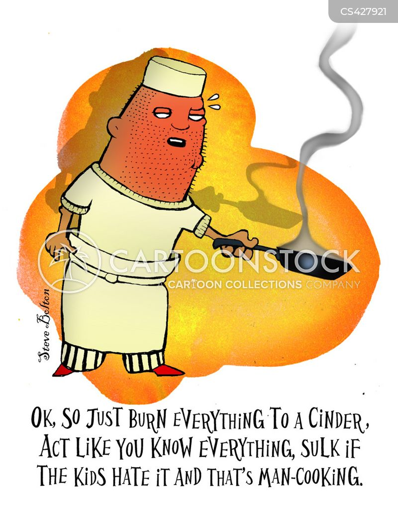 Man Cooking Cartoons And Comics Funny Pictures From Cartoonstock
