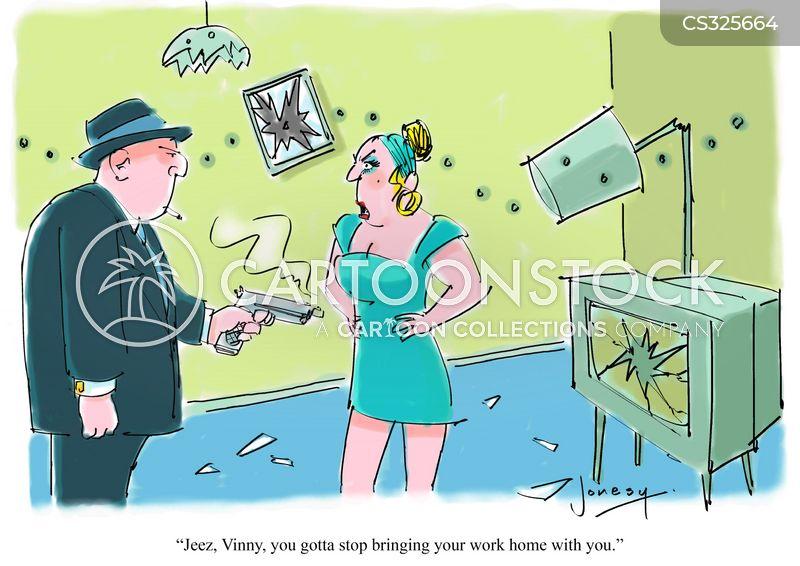 bringing work home cartoon