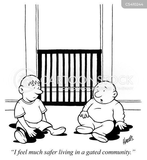 gated communities cartoon