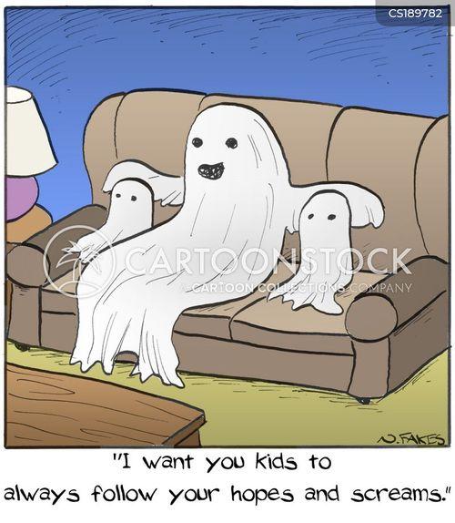 hauntings cartoon