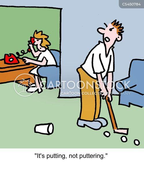 practises cartoon