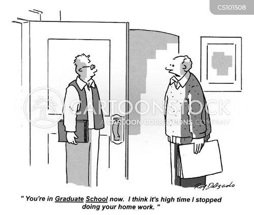 graduate school cartoon