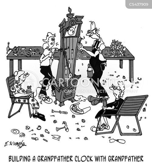 grandfather clock cartoon