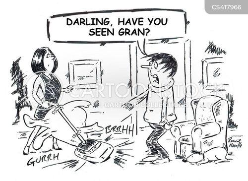 vacuum cleaning cartoon