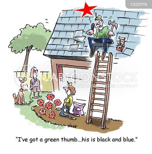 black and blue cartoon