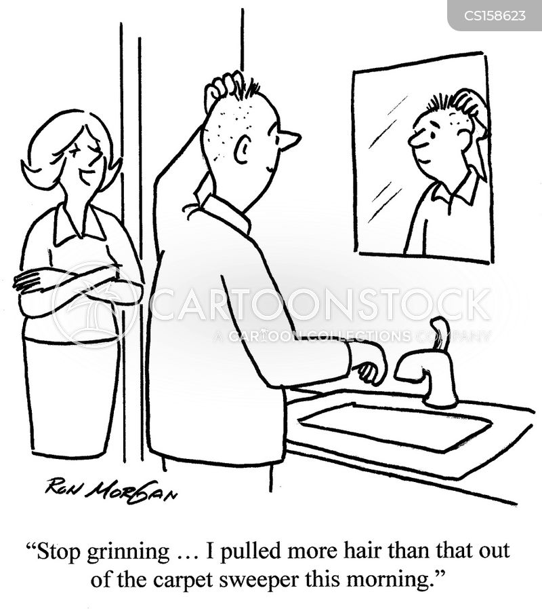 hair products cartoon