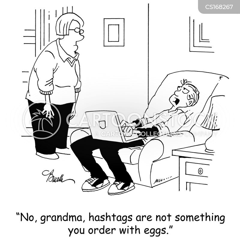 hashtags cartoon