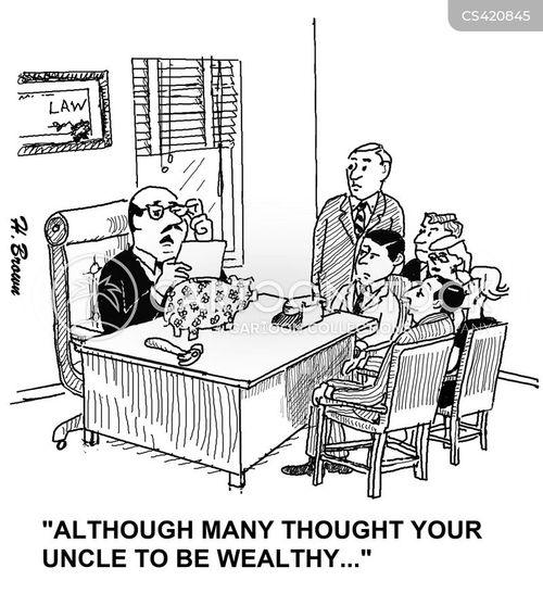 family wealth cartoon