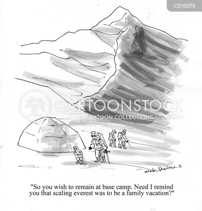 mount everest cartoon