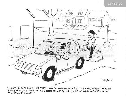 home securities cartoon