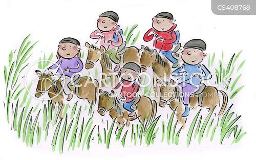 horserider cartoon
