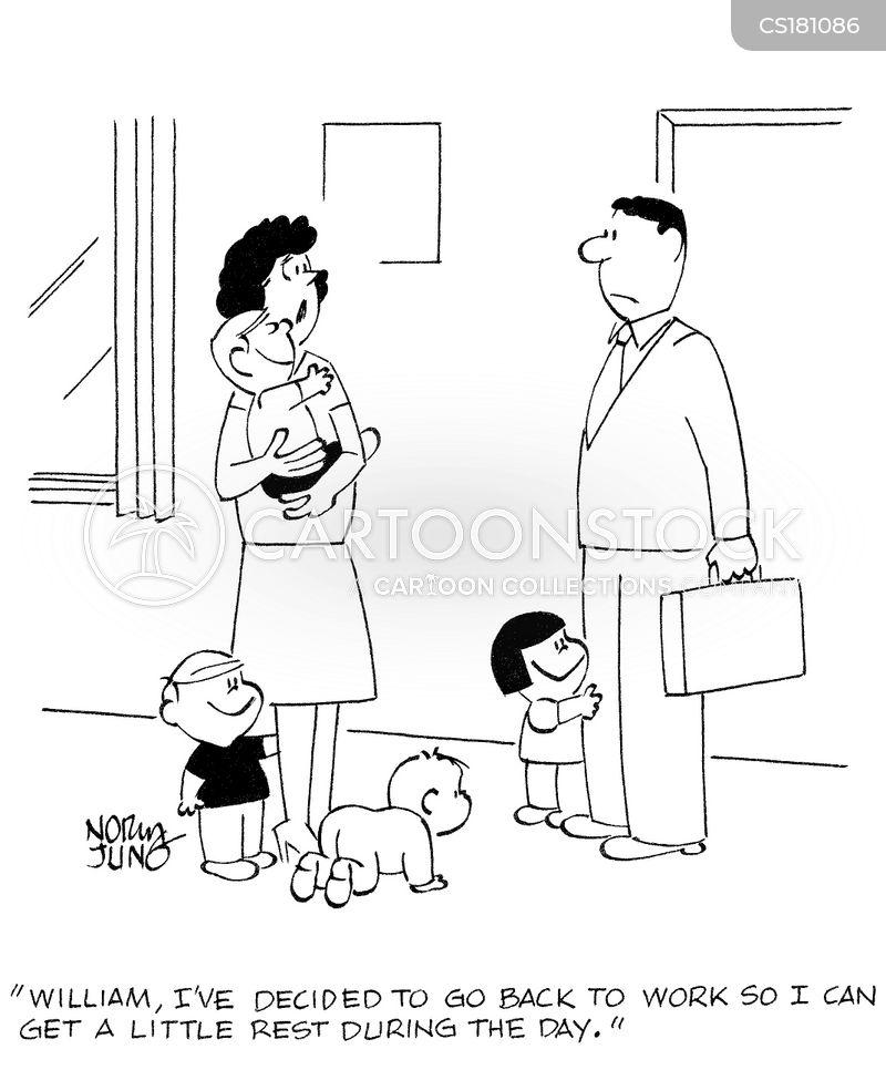 working mum cartoon