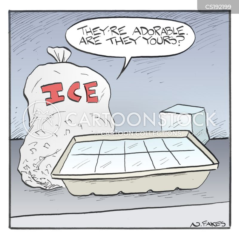 ice bag cartoon