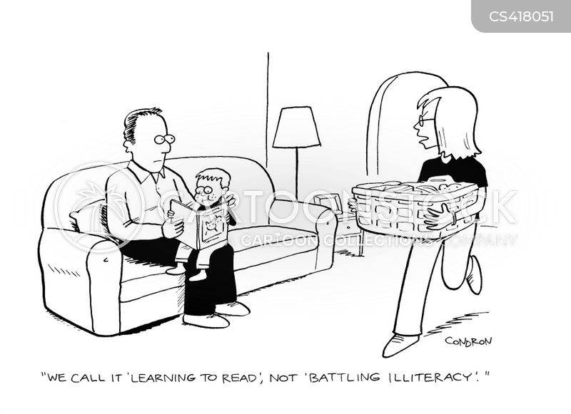 reading lesson cartoon