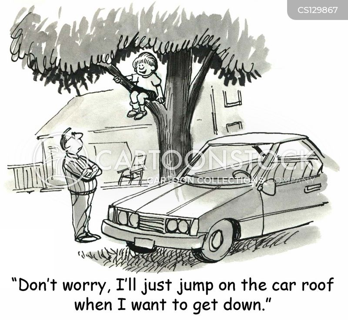car roof cartoon