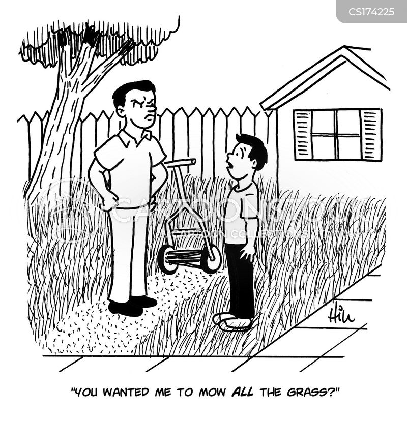 lawn-mower cartoon