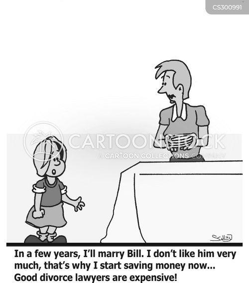 divorce laywers cartoon