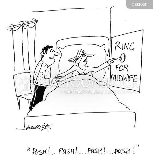 pushes cartoon