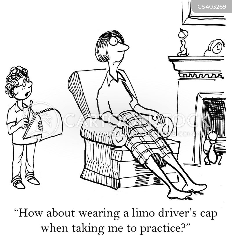 limo driver cartoon