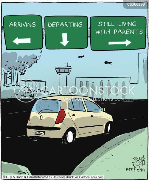 departure cartoon