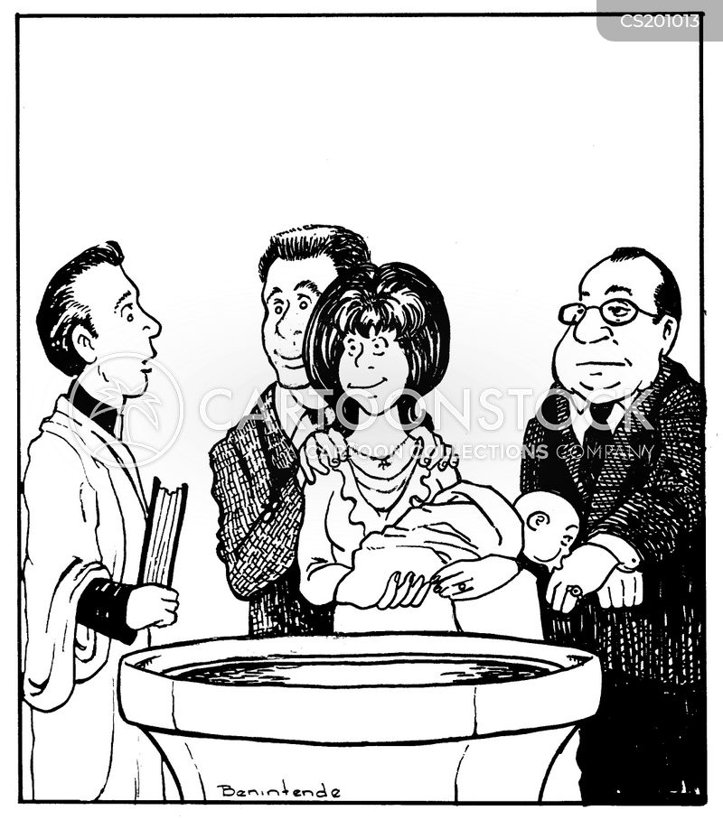 christenings cartoon