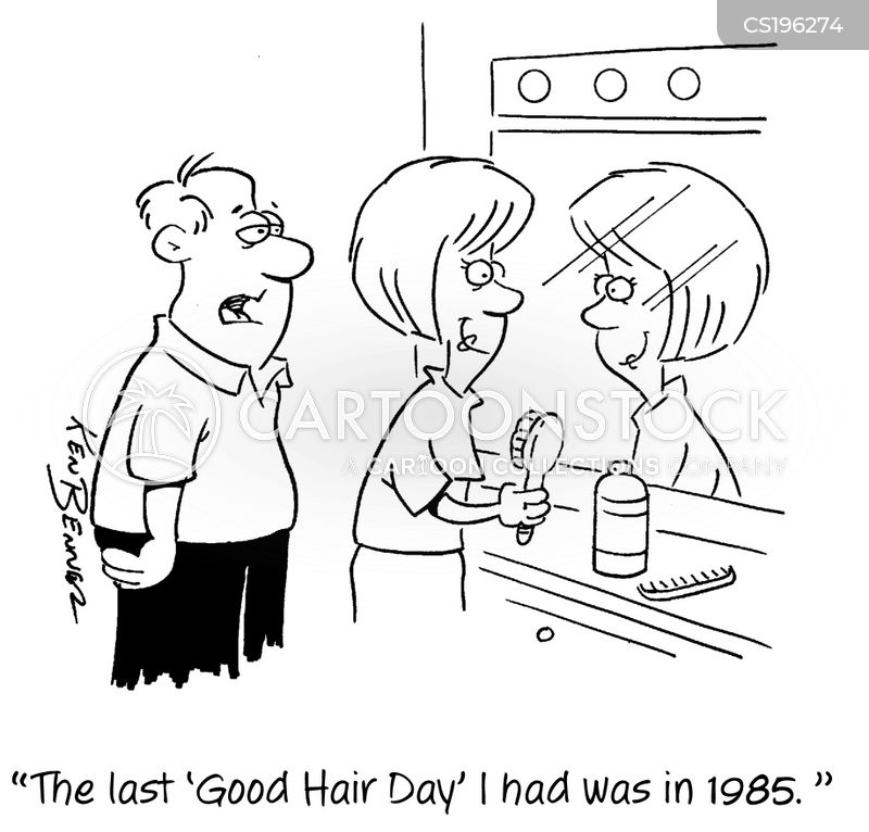 Bad Hair Day Cartoons And Comics Funny Pictures From Cartoonstock