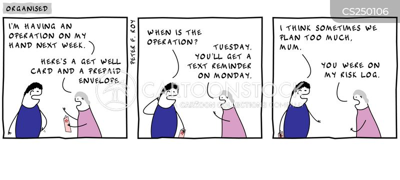organizational skills cartoon